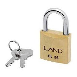 Cadeado de Latão 35mm Land - Santec