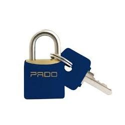 Cadeado de Latão Colorido 20mm Azul Pado - Santec