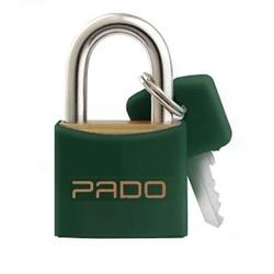 Cadeado de Latão Colorido 20mm Verde Pado - Santec