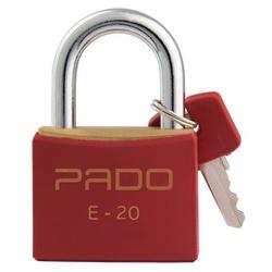 Cadeado de Latão Colorido 20mm Vermelho Pado - Santec