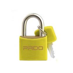 Cadeado de Latão Colorido 25mm Amarelo Pado - Santec