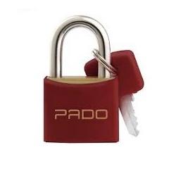 Cadeado de Latão Colorido 25mm Vermelho Pado - Santec