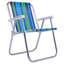 Cadeira de Praia Alta em Alumínio Dobravel 25500 Bel Fix - Santec