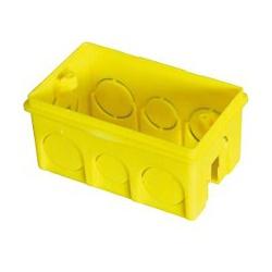 Caixa de Embutir Plástica 4 x 2 Amarela 620621S Ilumi - Santec