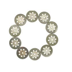 Kit com 10 discos Diamantados para Mini Retífica 05577 Titan... - Santec