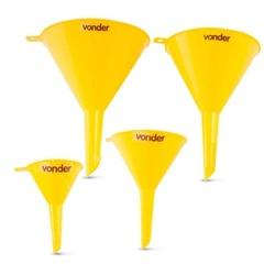 Funil Plástico Jogo com 4 Peças 5167040000 Vonder - Santec
