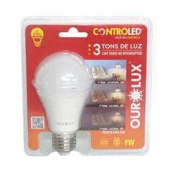 Lampada Controled 3 Tons 9W 2700K 20495 Ourolux - Santec