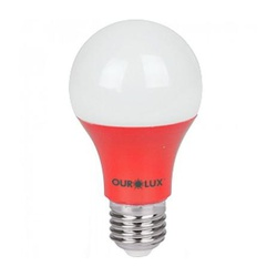 Lampada de Led 7W Vermelha 05457 Ourolux - Santec