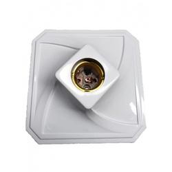 Plafonier Quadrado Branco para 1 Lampada Vertical - Santec