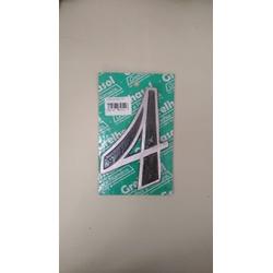 Numero Residencial em Aluminio - Nº4 Grelhasol - Santec