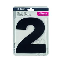 Número Residencial Preto com Adesivo - Nº2 Primafer - Santec