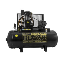 Compressor de Ar 20 Pés CSL20 Bravo 200 Litros 5HP Schulz Tr... - Santec
