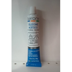 Adesivo de Silicone Incolor 50gr Barone - Santec