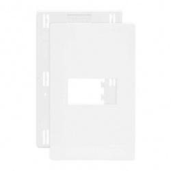 Placa 4x2 1 Posto Horizontal Branco C/ Suporte Linha Infinit... - Santec