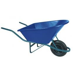 Carrinho de Mão 90L Caçamba Plástica Azul Metasul - Santec