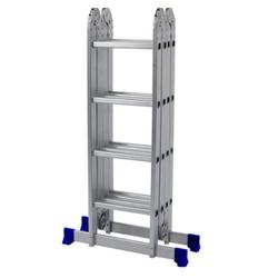 Escada de Aluminio Articulada 4 x 4 Multifuncional 16 Degrau - Santec