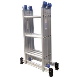 Escada De Aluminio Articulada 4 X 3 Multifuncional 12 Degrau - Santec