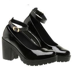 Sapato Boneca Modelo 3 Preto Verniz - SANTACROW