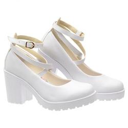 Sapato Boneca Modelo 1 Branco - SANTACROW