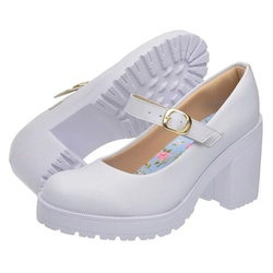 Sapato Boneca Modelo 2 Branco - SANTACROW