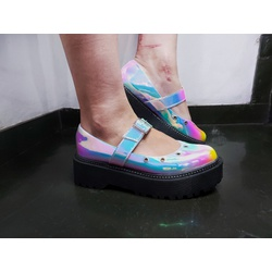 Sapato Boneca Holográfico Laser - SANTACROW