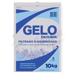 Sacos Para Gelo Transparente 10kg C/codigo De Barr... - SANTOSEMBALAGENS