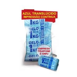 Sacos Para Gelo Azul TranslÚcido 1Kg C/ Código De ... - SANTOSEMBALAGENS