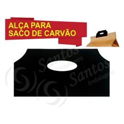 Alça Para Saco De Carvão Alcinha De Plástico C/100... - SANTOSEMBALAGENS