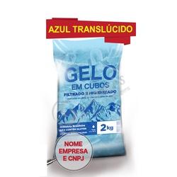 Sacos Para Gelo Azul Translúcido 2kg C/código De B... - SANTOSEMBALAGENS