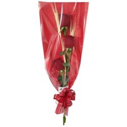 Ramalhete charmoso composto com 3 rosas vermelhas