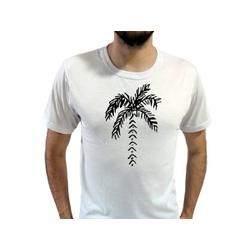 Camiseta T-Shirt Masculina Coqueiro Branca - 980 - Boot do Richard