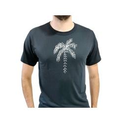 Camiseta T-Shirt Masculina Coqueiro Preta - 980 - Boot do Richard