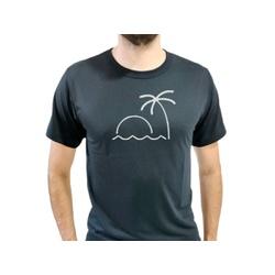 Camiseta T-Shirt Masculina Beach Preta - 950 - Boot do Richard