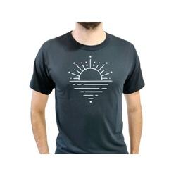 Camiseta T-Shirt Masculina Sunset Preta - 920 - Boot do Richard
