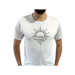 Camiseta T-Shirt Masculina Sunset Branca - 920 - Boot do Richard