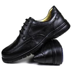 Sapato Social em Couro Floater Preto Forrado Com C... - SAPATOSHOPPING