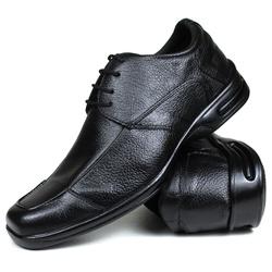 Sapato Social em Couro Floater Preto 730-FRC - SAPATOSHOPPING