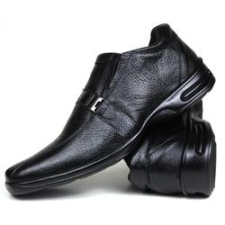Sapato Social em Couro Floater Preto 755-FRC - SAPATOSHOPPING