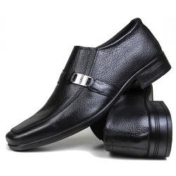 Sapato Social em Couro Floater Preto 700 - SAPATOSHOPPING