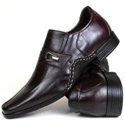 Sapato Social Gallipoli em Couro café 3335rp - SAPATOSHOPPING