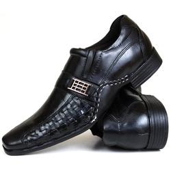 Sapato Social Gallipoli em Couro Preto 3073rp - SAPATOSHOPPING
