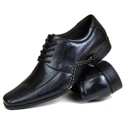 Sapato Social Gallipoli em Couro Preto3072rp - SAPATOSHOPPING