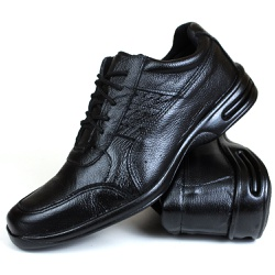Sapato Social Free Shoes em Couro Floater Preto 60... - SAPATOSHOPPING