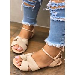Sandalinha Baixa com Amarração Linhão - VAT005 - Talline Sapatilhas Atacado
