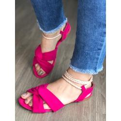 Sandalinha Baixa Com Amarração Rosa - VAT006 - Talline Sapatilhas Atacado