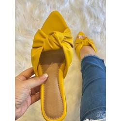 Mulle Amarelo em Nó - COL135 - Talline Sapatilhas Atacado