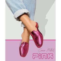 Mulle Pink Croco - EAS212 - Talline Sapatilhas Atacado
