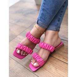 Rasteira Elástico Pink