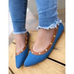 Sapatilha Jeans Claro com Tachinhas