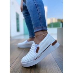 Slip On Branco com Costura